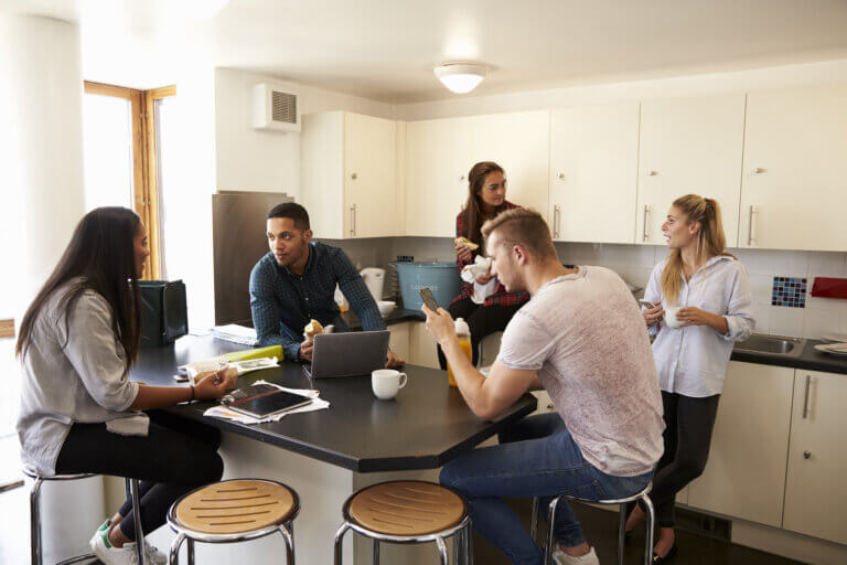 students in accommodation